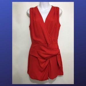 Zara Basic Womens M Red Romper